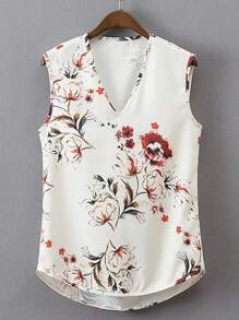 Cowl Back High Low Tank Top