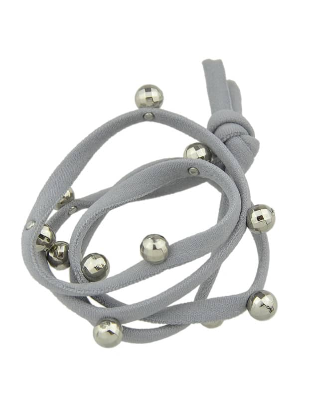 Gray Color Elastic String Hair Bands Accessories