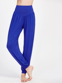 Wide Waistband Harem Pants