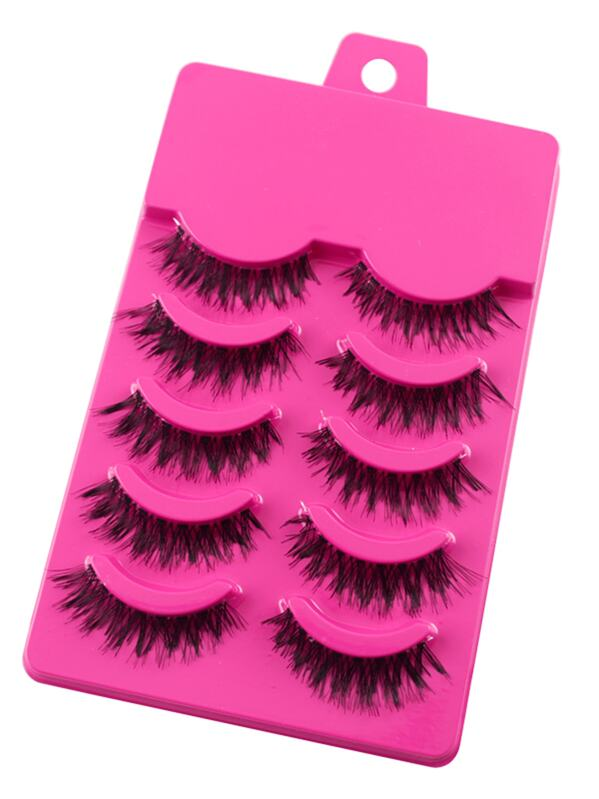 Thick False Eyelashes Set 5 Pair, null