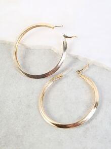 80mm Hoop Earrings GOLD