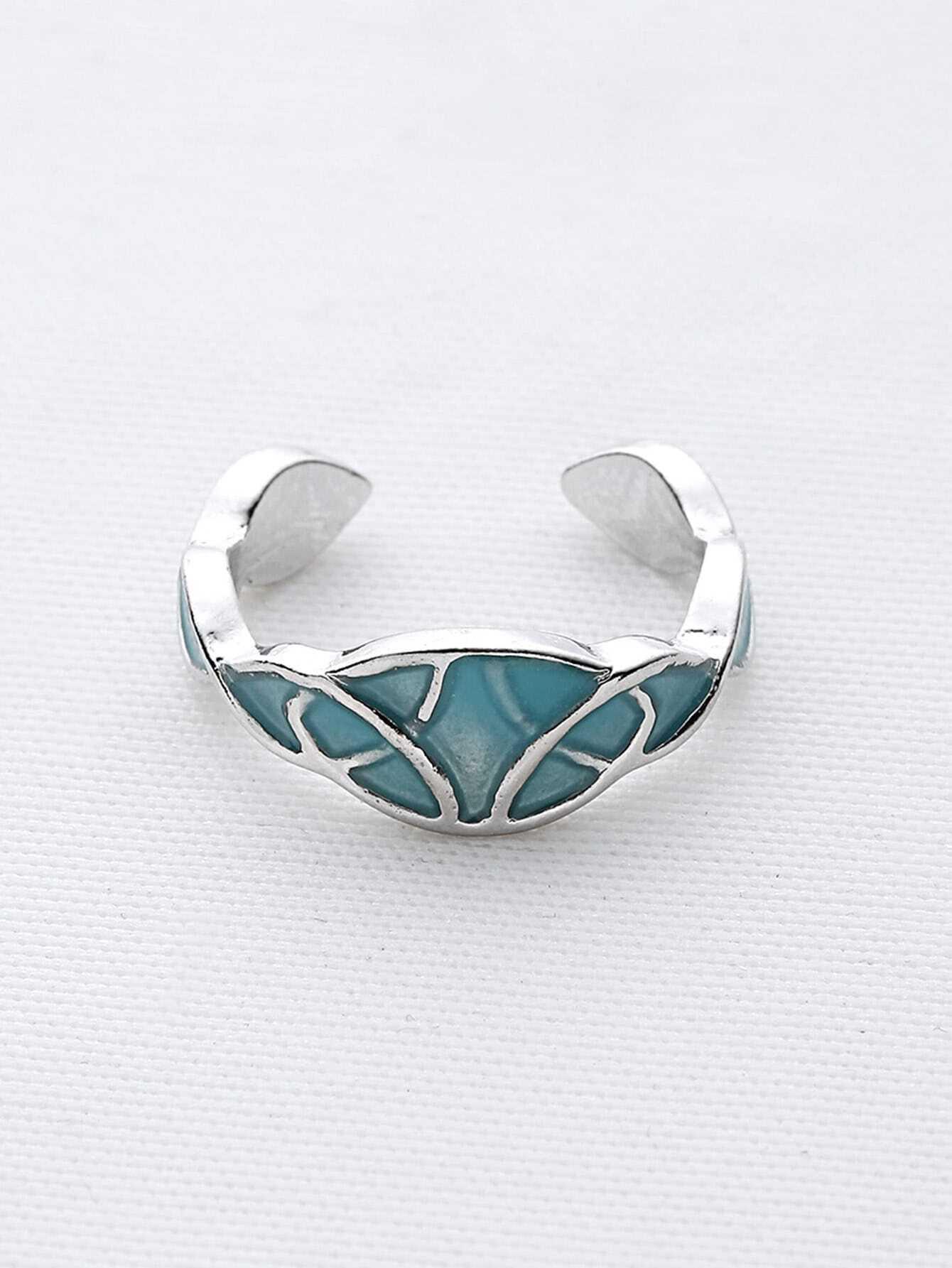 Фото Geometric Pattern Luminous Cuff Ring. Купить с доставкой