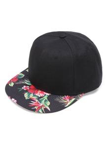 Cappellino con stampa di fiore