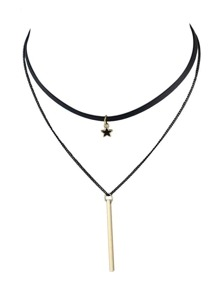 Punk Style Multilayers Long Thin Gold Chain Necklaces