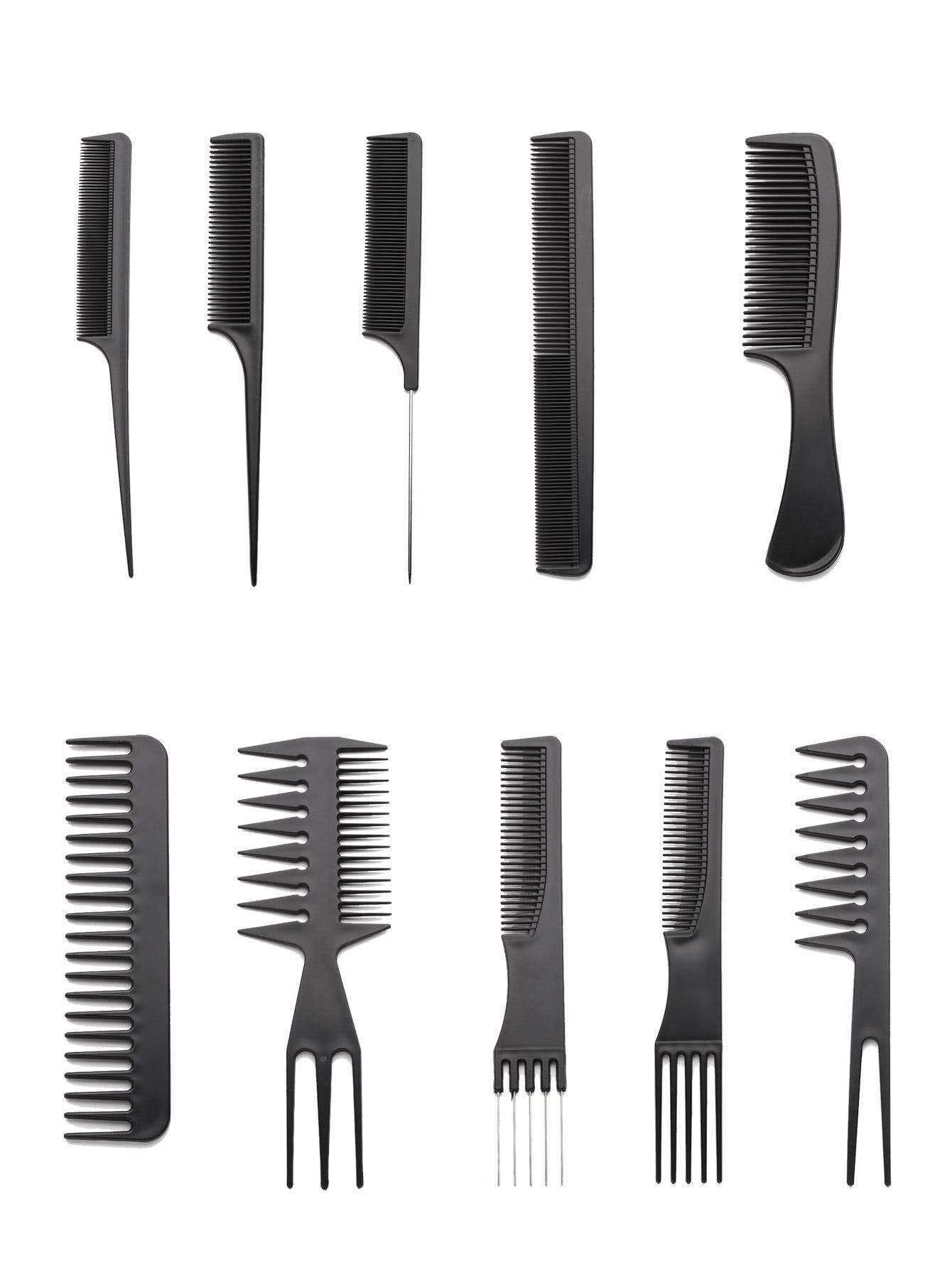 Multi Shaped Hair Comb Set 10pcs multi shaped hair comb set 10pcs