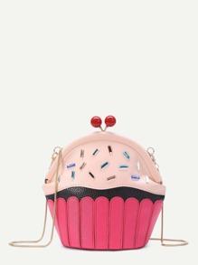 Borsa a tracolla a forma di cupcake