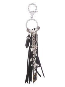 Flower And Tassel Charm Drop Keychain