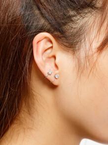 Rhinestone Ear Cuff 2pcs