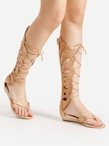 Sandales Gladiateur croisé découpé