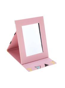 Random Color Triangle Foldover Mirror