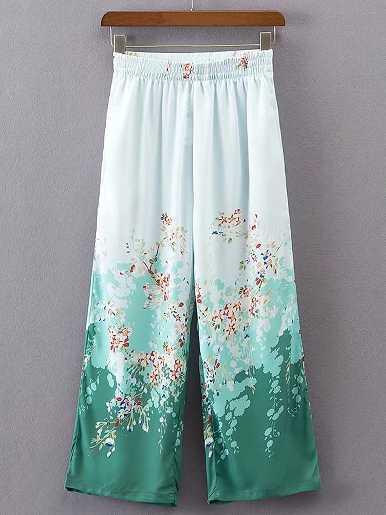 Elastic Waist Wide Leg Pants pants170413201