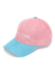 Two Tone Letter Embroidery Baseball Hat