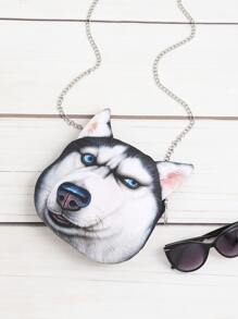 Dog Shaped Cute Crossbody Bag With Chain