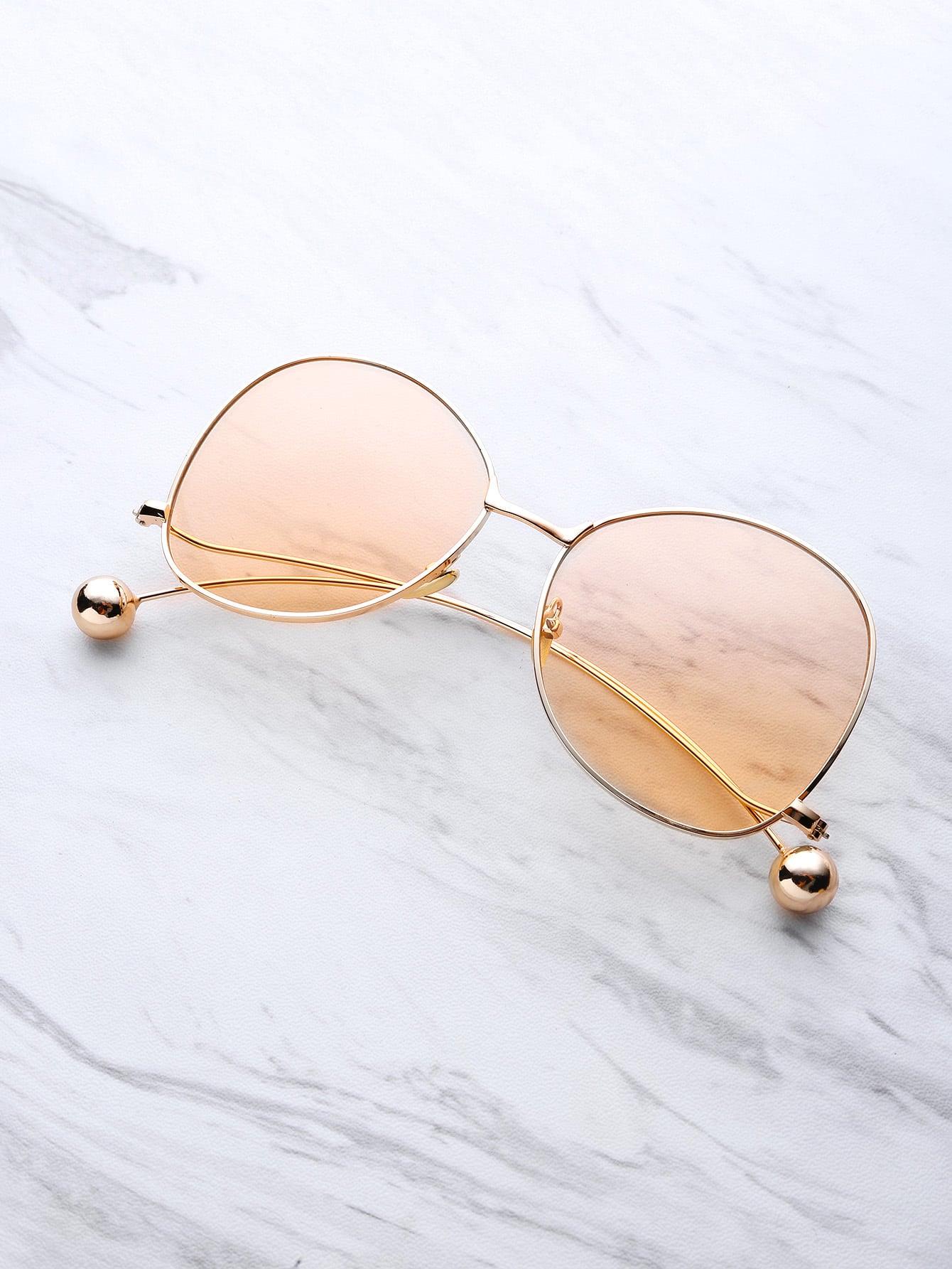 Фото Ball Detail Curved Frame Sunglasses. Купить с доставкой