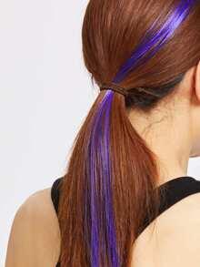 Pezzo dritto dei capelli - viola