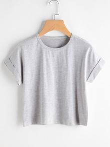 Cuffed Slub Tshirt