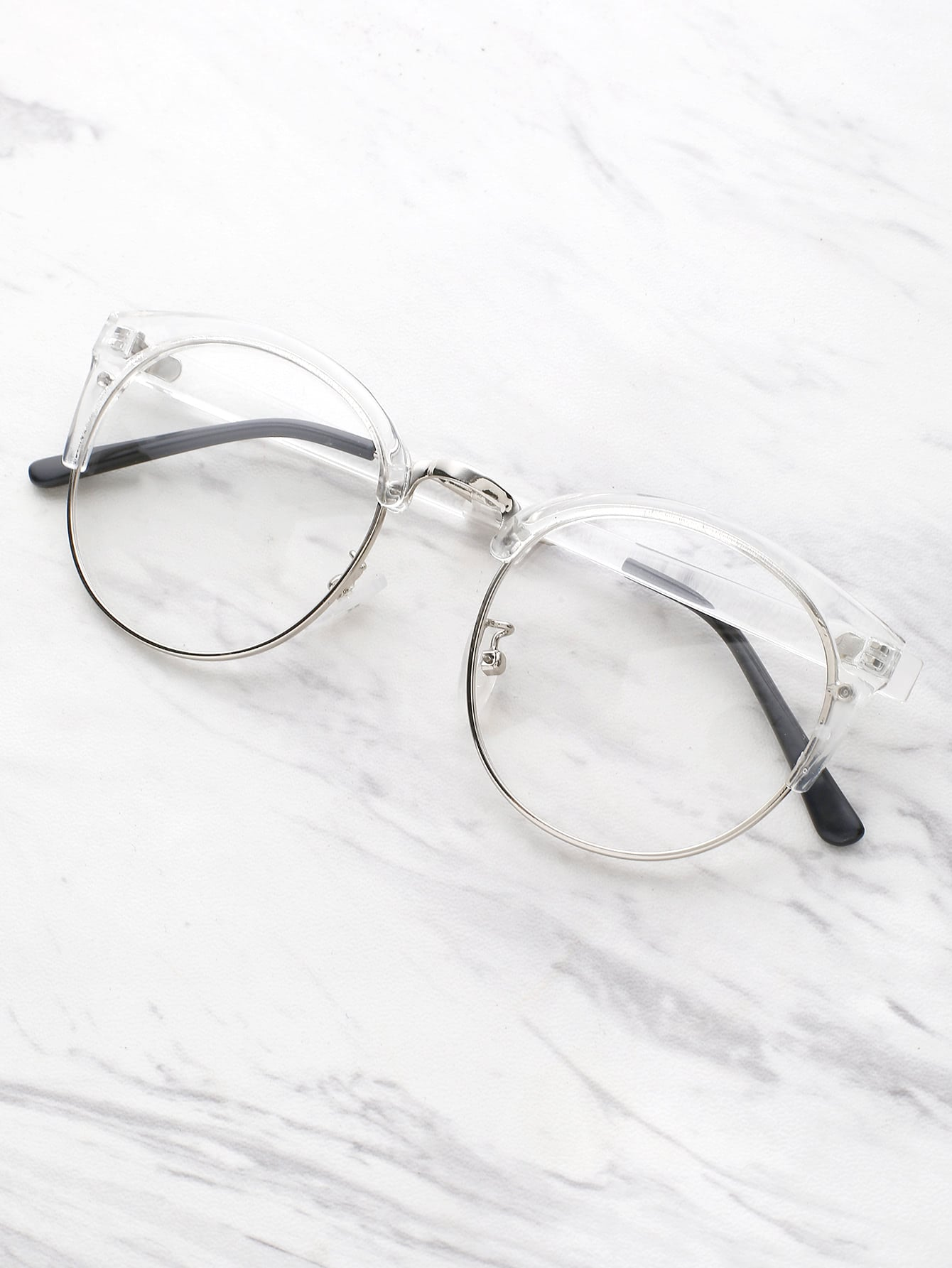 Clear Frame Glasses With Clear Lens