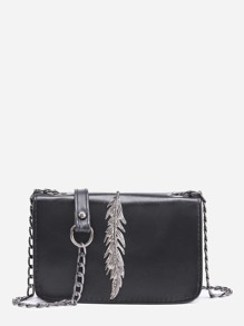 Metal Leaf Crossbody Bag