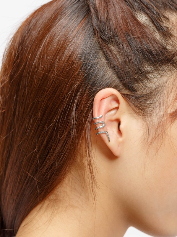 Snake Shaped Ear Cuff 1pc, null