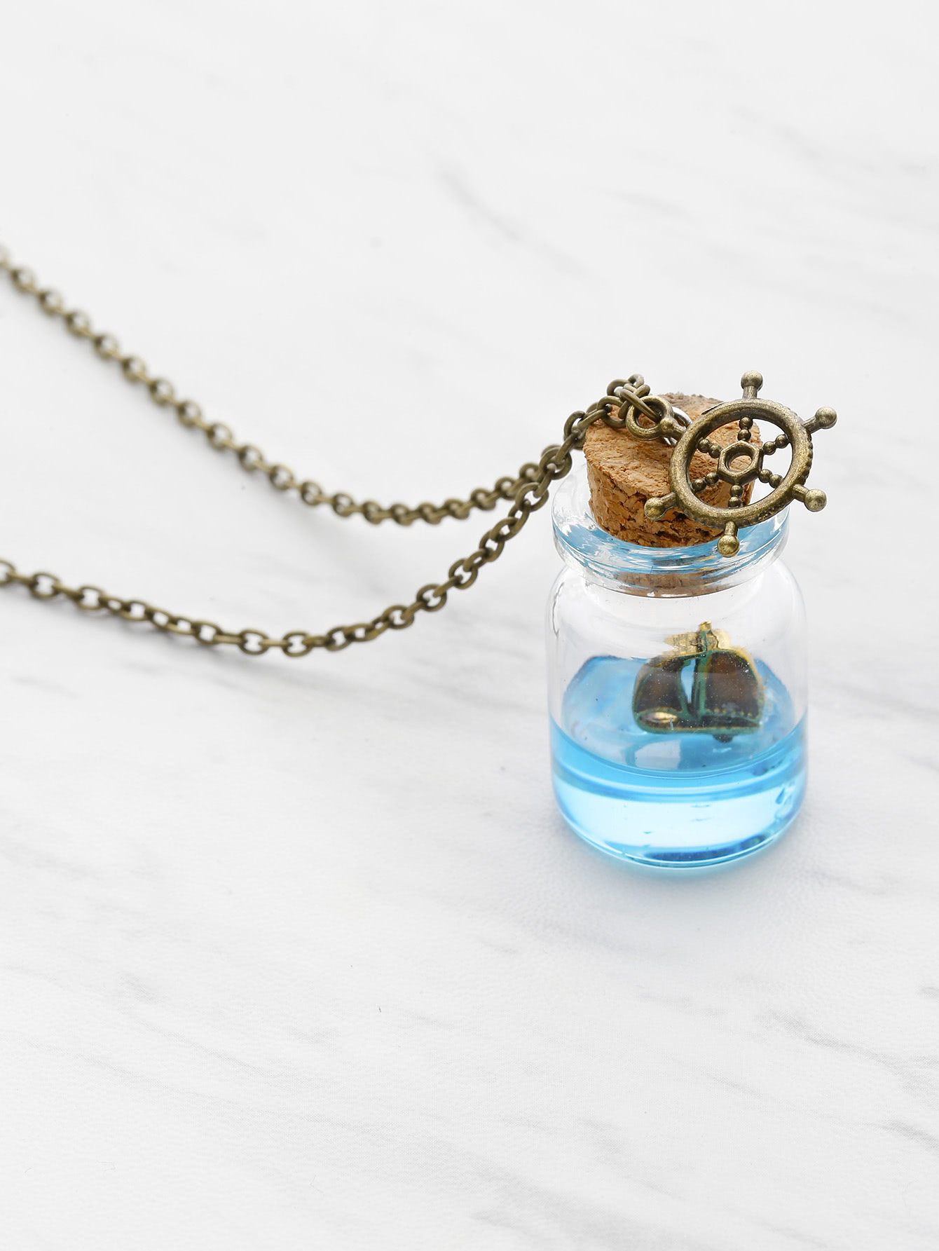 Drift Bottle Pendant Necklace