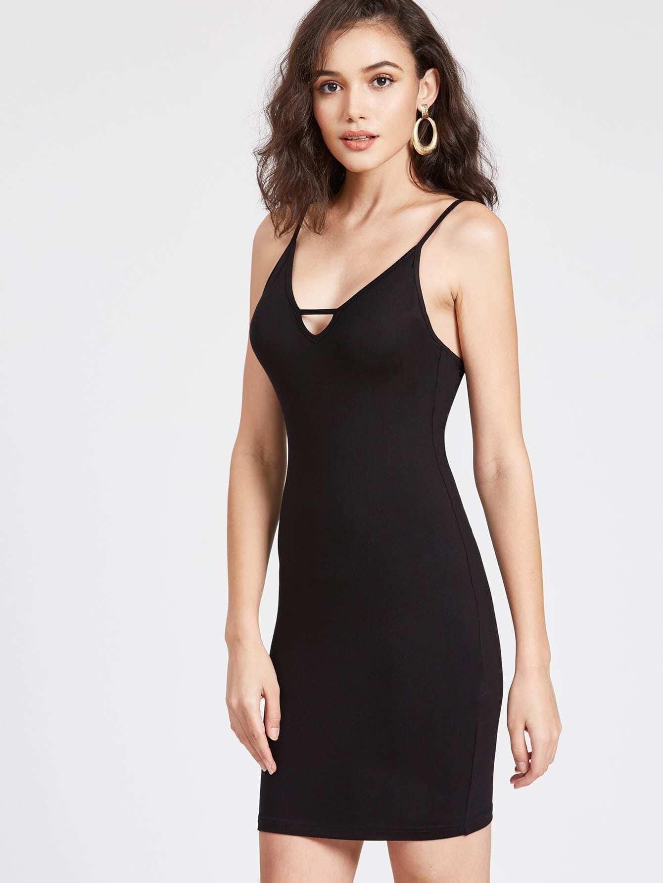 Фото Strappy Low Back Plunging Cami Dress. Купить с доставкой
