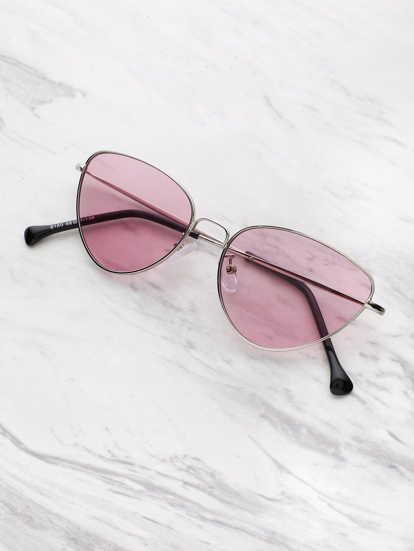 Фото Oval Shaped Flat Lens Sunglasses. Купить с доставкой