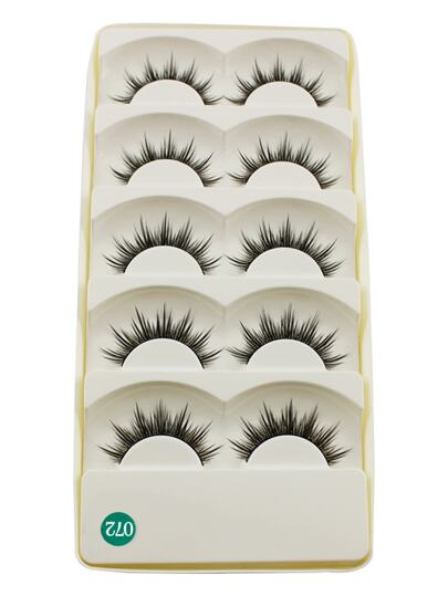 Long False Eyelashes Set 5 Pair