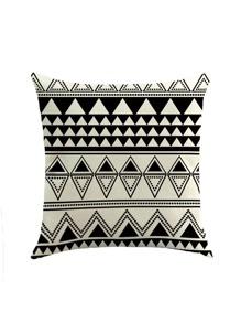 Funda de almohada con estampado de triángulo
