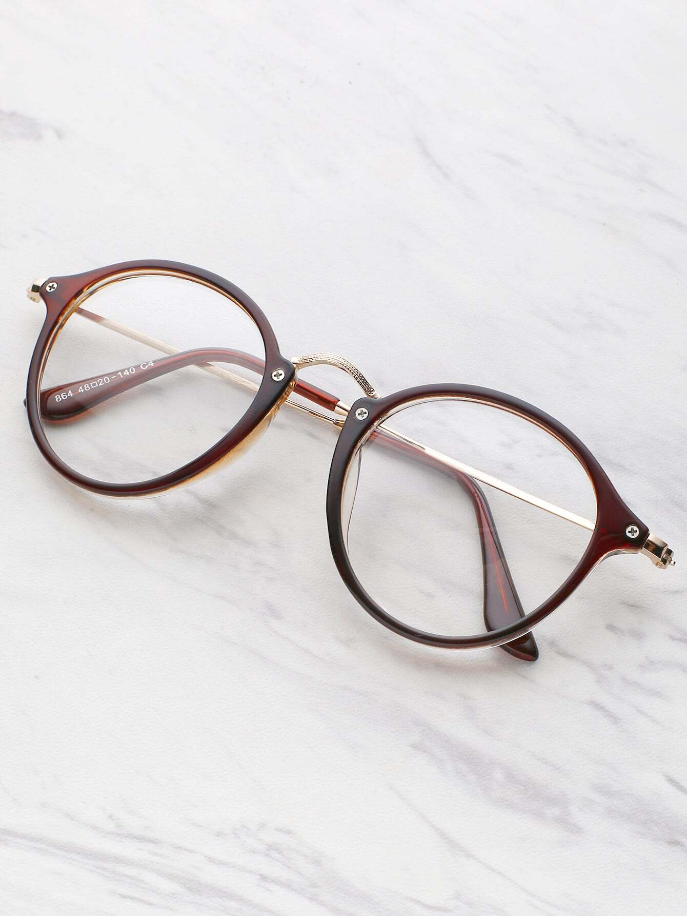 Metal Top Bar Round Glasses