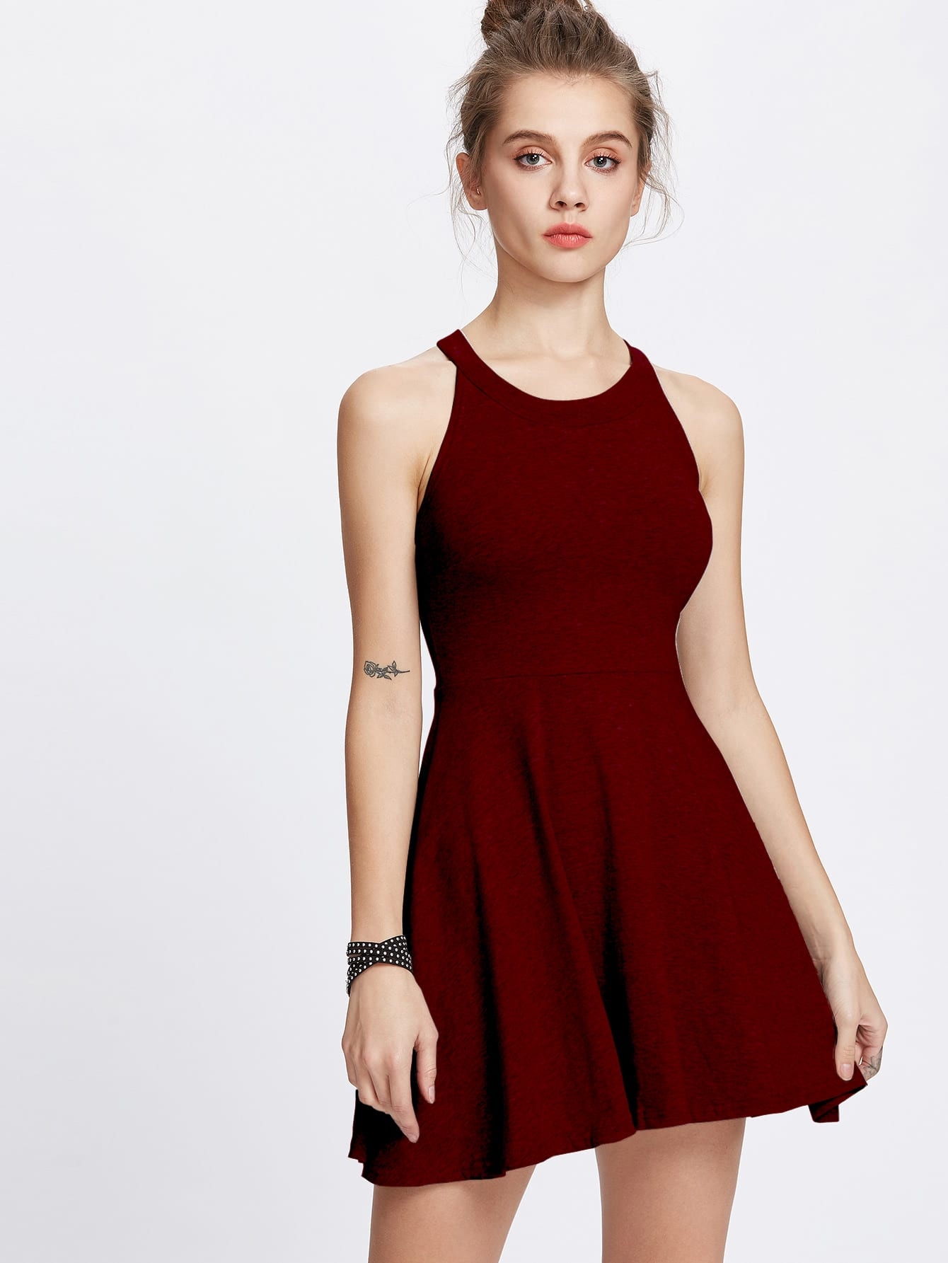Halter Neck A Line Dress