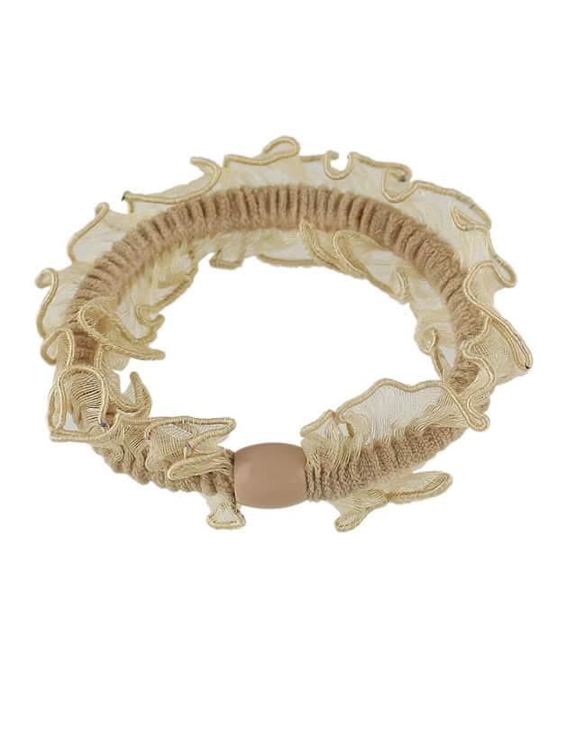 KhakiColor Elastic Hair Rope Scrunchie