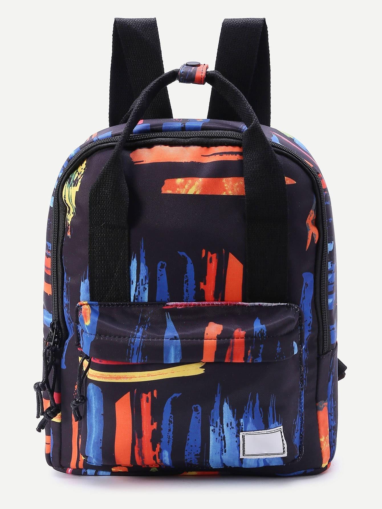 Фото Graffiti Print Double Handle Backpack. Купить с доставкой