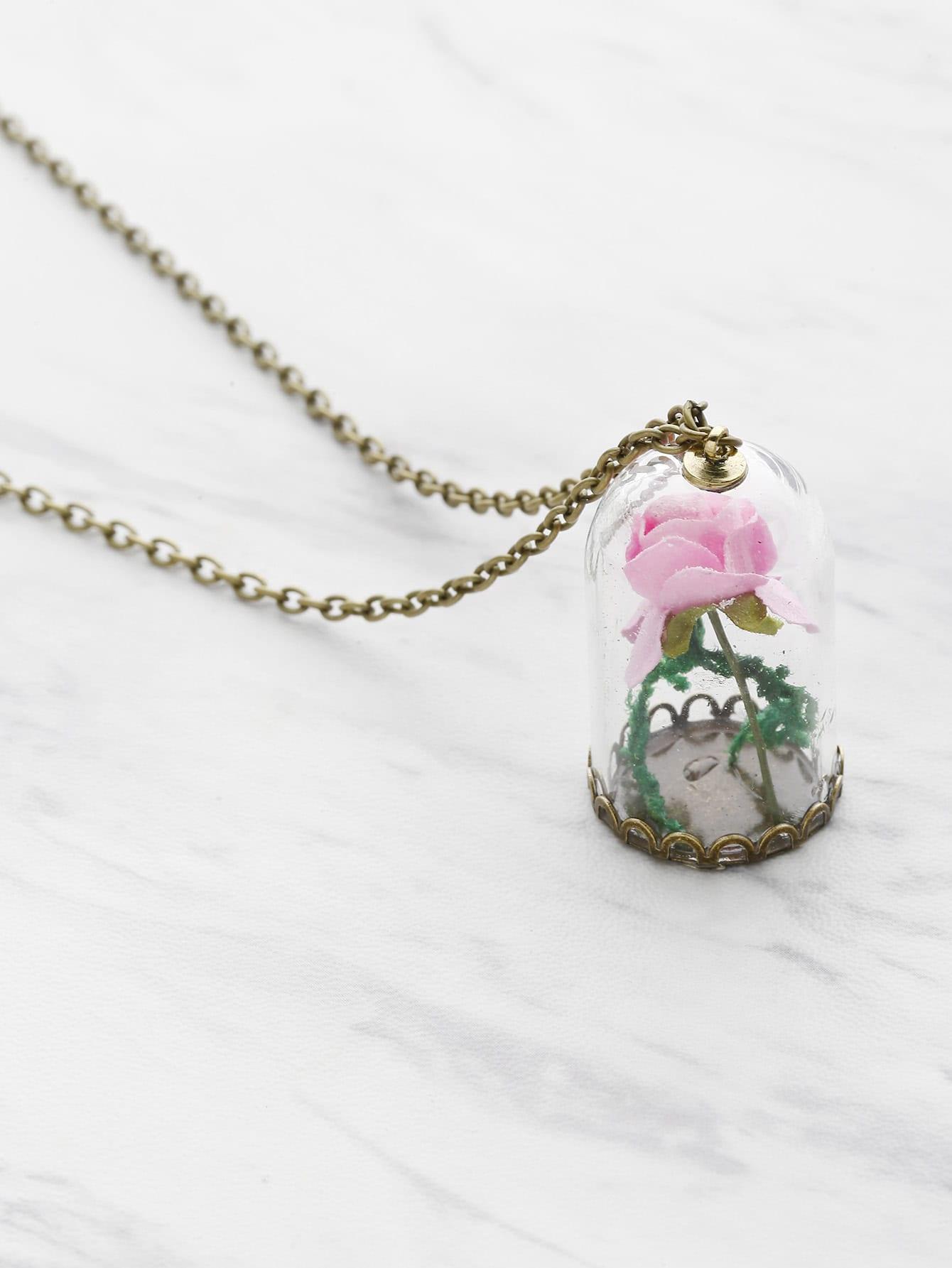 Фото Flower Pendant Chain Necklace. Купить с доставкой
