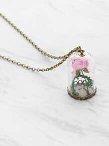 Pendentif en fleur Collier en chaîne