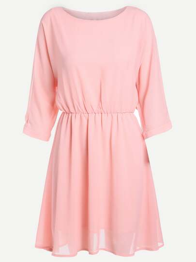 Split Sleeve Chiffon Dress
