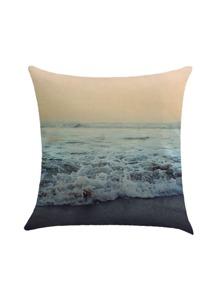 Funda de almohada con estampado de playa