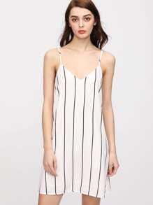 Robe rayée - blanc