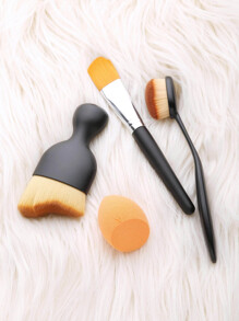 3Pcs Makeup Brush Set With Puff