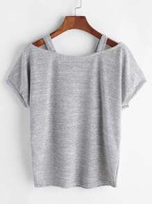 Cold Shoulder Slub Tshirt