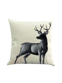 Funda de almohada con estampado de ciervo
