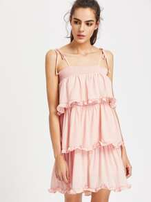 Frill Trim Layered Cami Dress