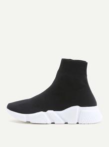 Zweifarbige elastische Schuhe