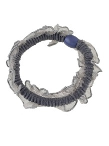 Gray Color Elastic Hair Rope Scrunchie
