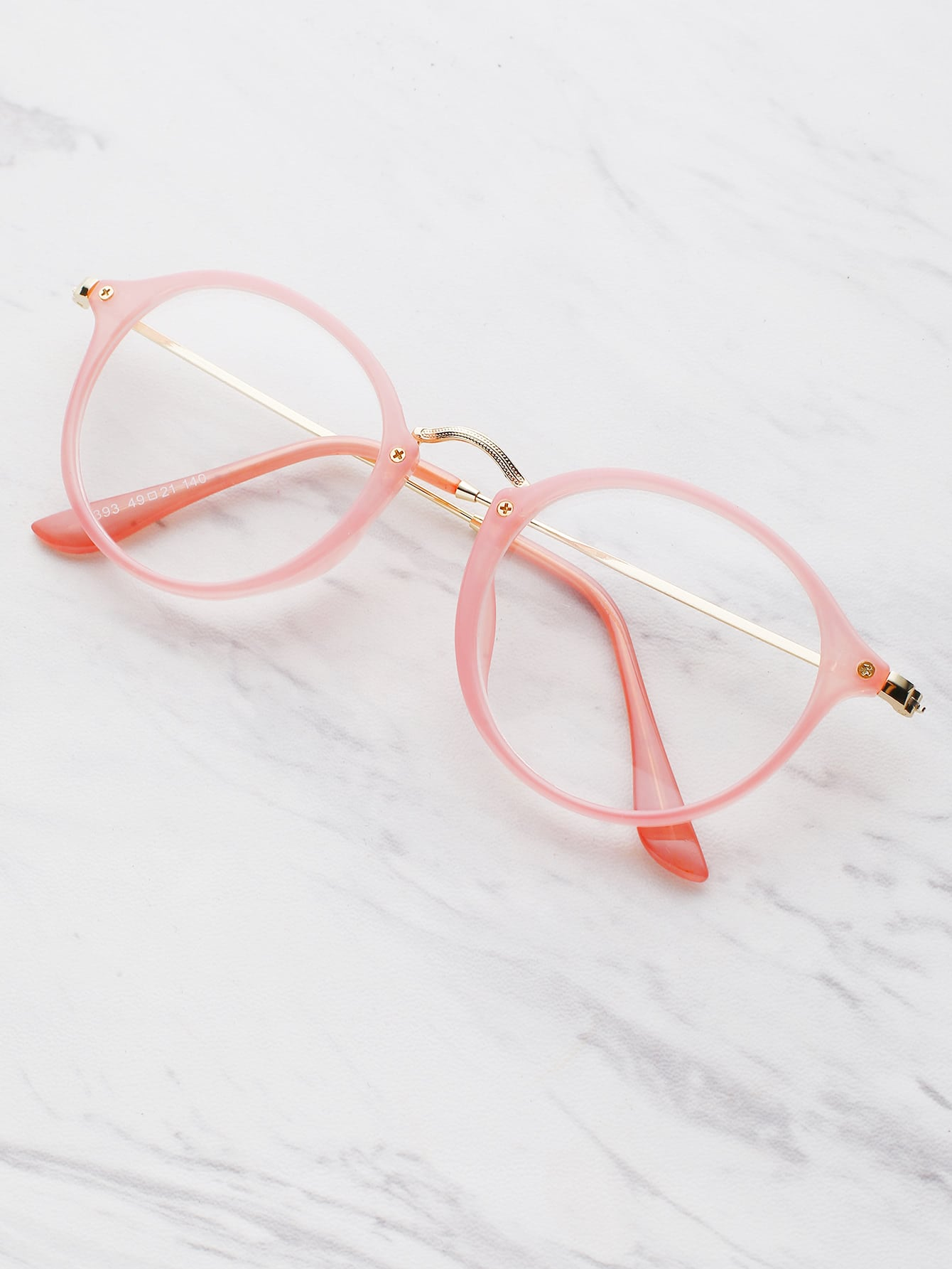 Metal Top Bar Glasses With Clear Lens
