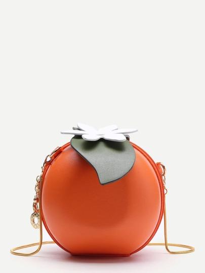 Orange Shaped Cute Crossbody Bag With Chain