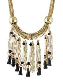 Golden Chain Beads Chunky Necklaces