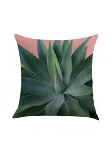 Funda de almohada con estampado de planta
