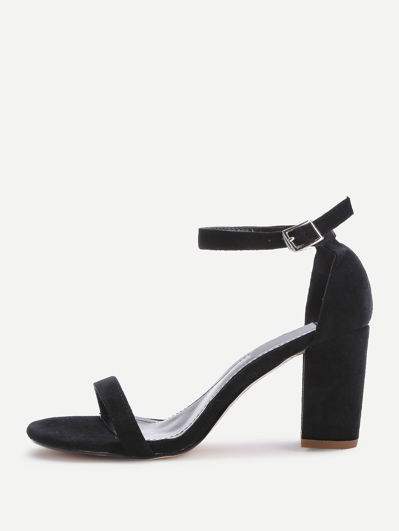 Two Part Block Heeled Sandals