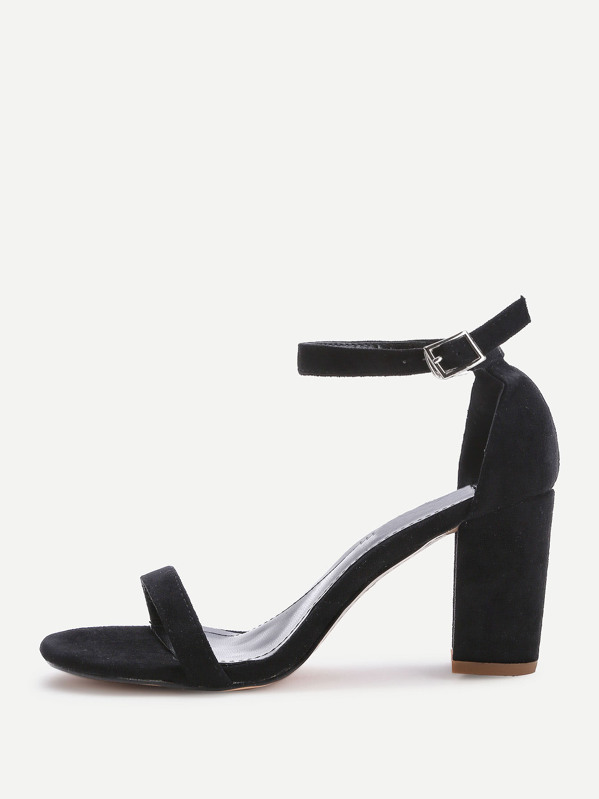 Two Part Block Heeled Sandals, null