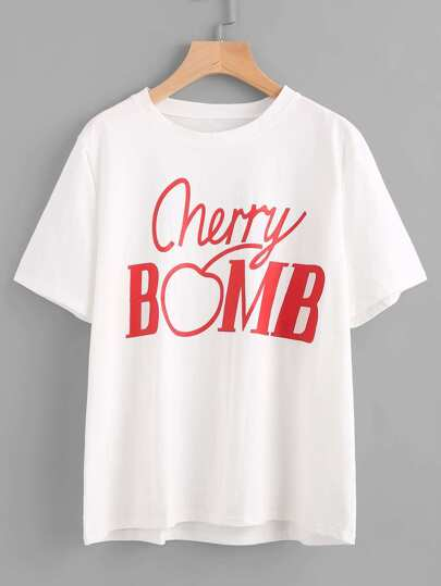 Camiseta estampada de Cherry y Bomb